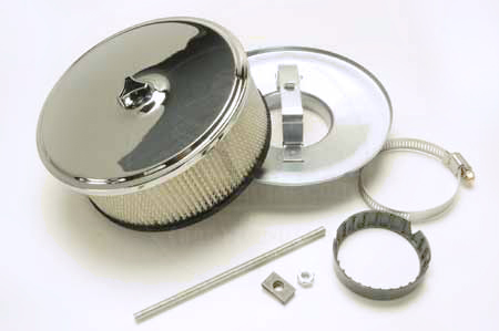 Chrome Air Filter, Cleaner