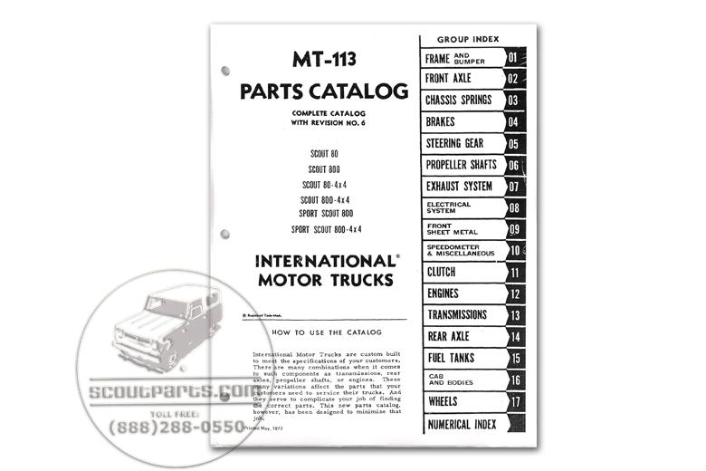 Parts Manual MT-113 - (1961-1968)