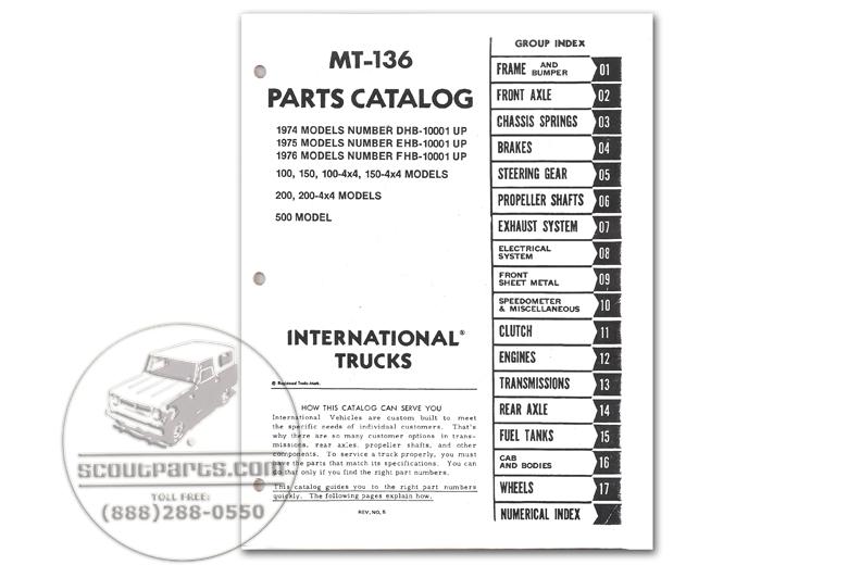 Parts Manual - MT-136 (1974-1975)