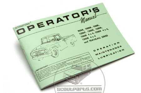 Pickup And  Operators Manual For 1967 (908B-1500B)