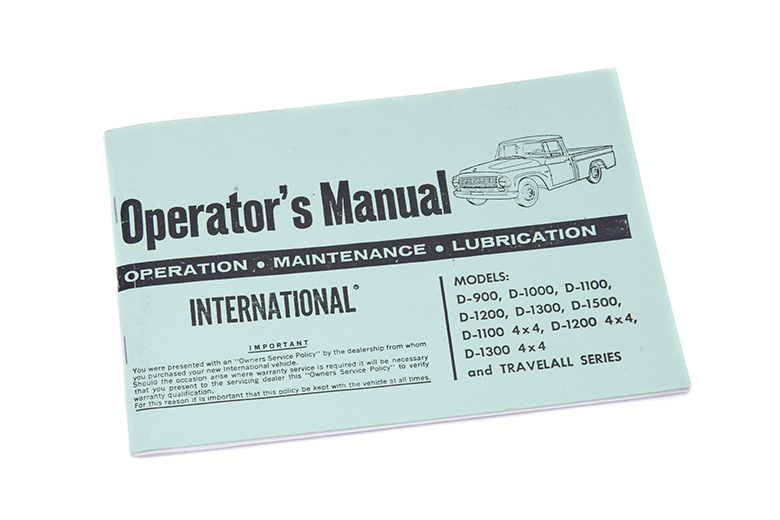 Pickup Operators Manual For 1970-1971 (1010-1510)