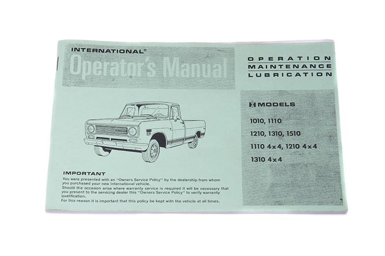 Operators Manual For 1970 (1000-1200D)