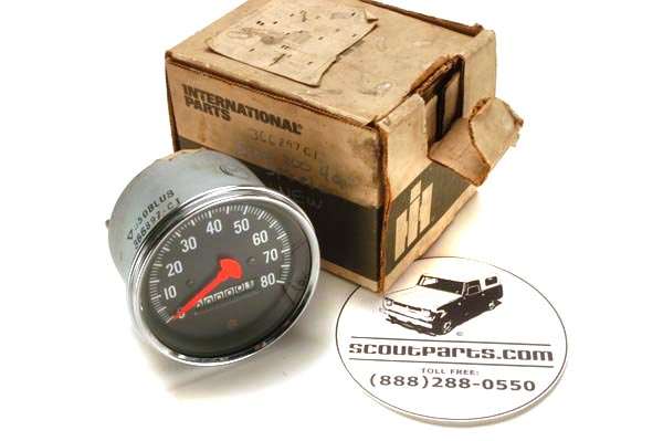 Scout 800 - Gauge Speedometer  80, MPH  - New Old Stock