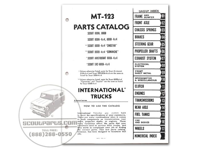 Scout 800 Parts Manual MT-123 - (1969-1971)