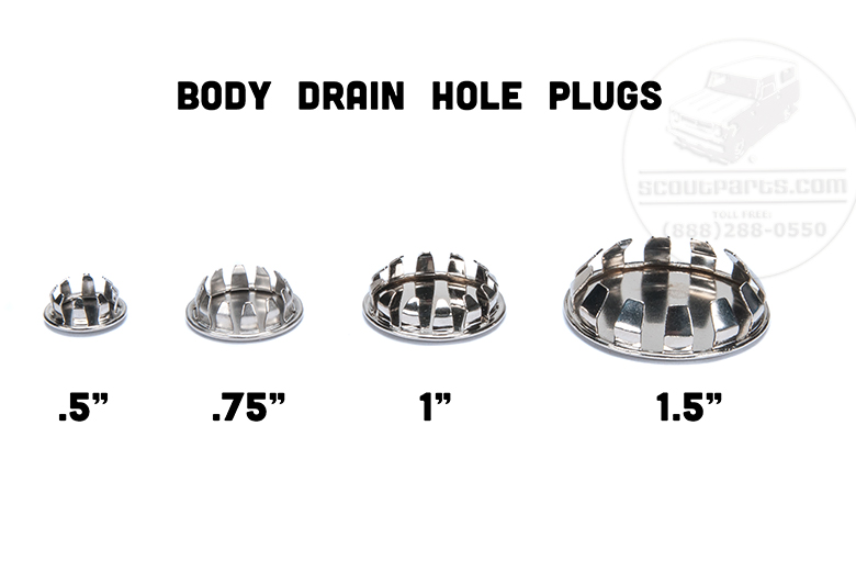 Body Drain Hole Plugs (chrome) .5