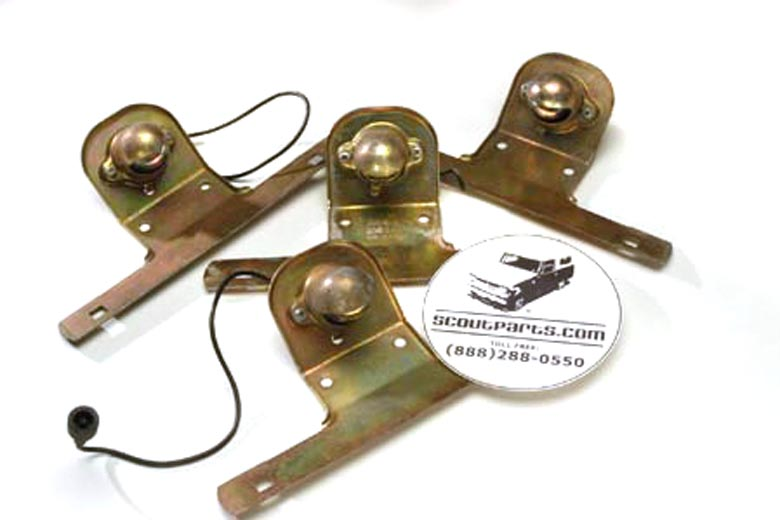 Scout II, Scout 80, Scout 800 License Plate Bracket With Light -Trucks - New Old Stock