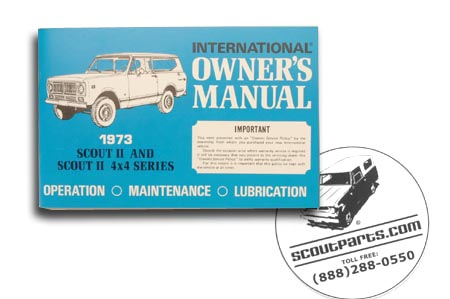 Scout II 1973  Owners Manual