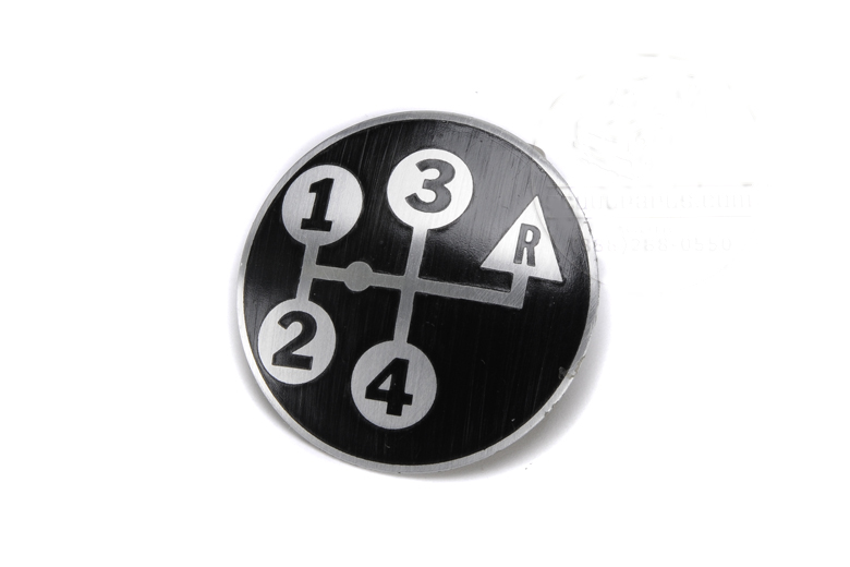Scout II 4 Speed Shifter Knob Decal Reverse Up.