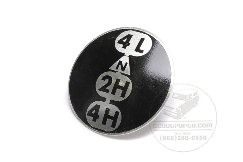 Decal Transfer Case Knob 2 Speed -