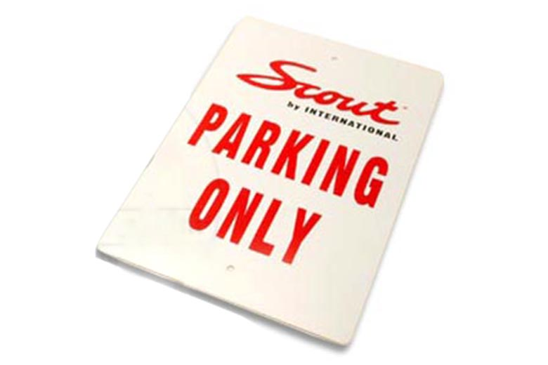 "Scout 80, Scout 800 ""Scout Parking Only"" Sign"