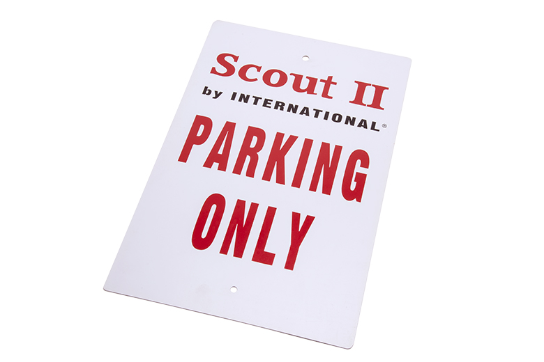 """Scout II """""""" Parking Only Sign"""