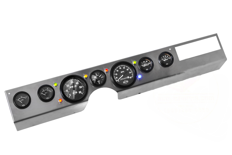Scout II Dash Panel New Gauge Kit  Combo -Panel, 7 Gauges, 6 LEDs.