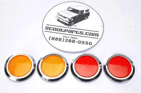 Scout 800 Front And Rear Side Marker Reflector Set