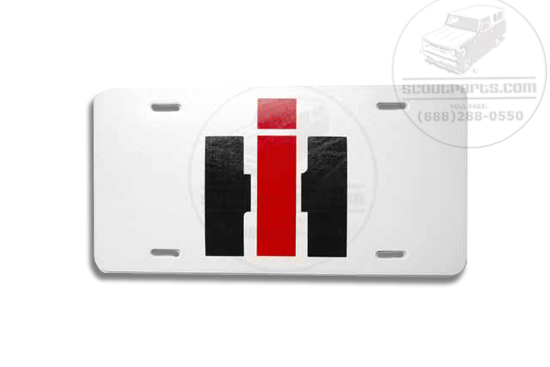 "License Plate ""IH"""
