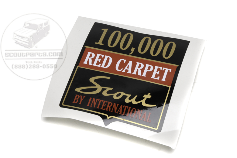 International Harvester 100,000 Red Carpet Sticker