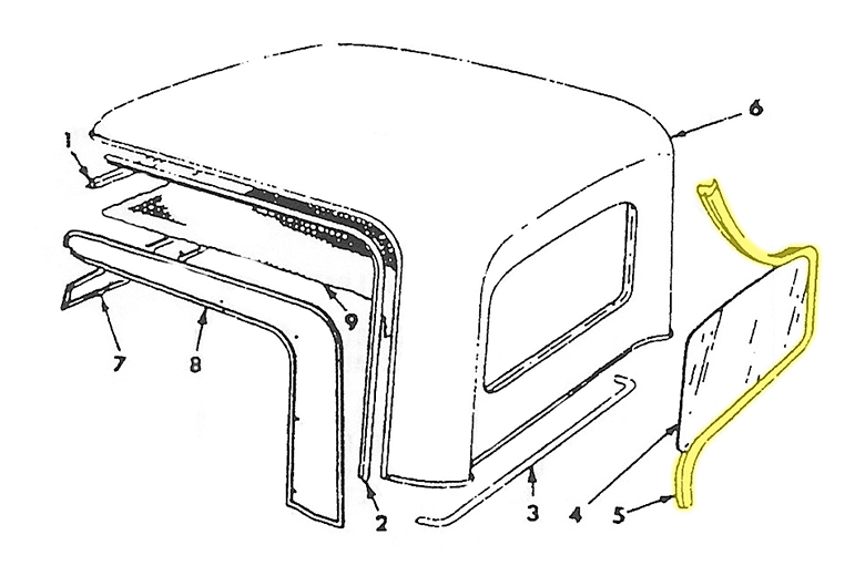 Scout 80, Scout 800 Rear Window Seal For  Half-Cab