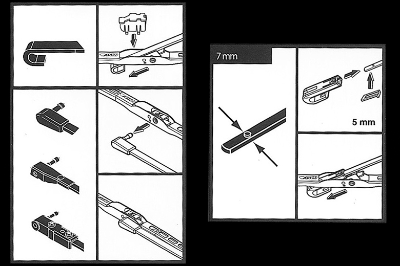 Scout II Wiper Blade and Arm Kit