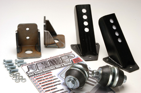 Scout II 350 Swap - GM Engine - Motor Mounts