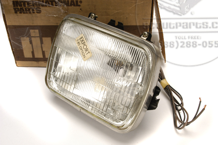 Scout II head light , rectangular for 1980