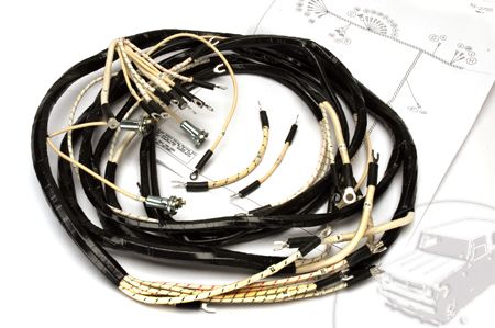 WIring Harness, 1950-1952 Model L-110 And L-120 Dash, Engine And Headlight Harness