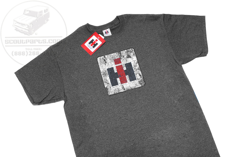 T Shirt - Distressed Charcoal International Harvester