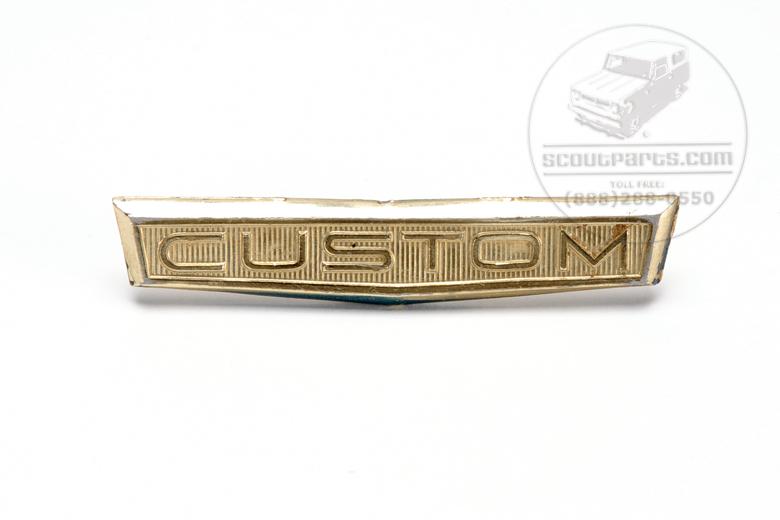 "Scout 80 Gold ""CUSTOM"" EMBLEM"
