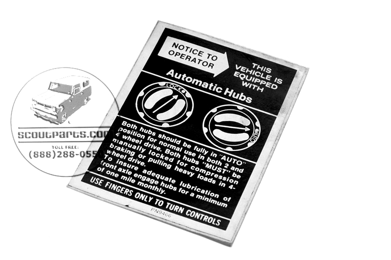 Scout II Decal - Lock-O-Matic Automatic Hubs decal sticker