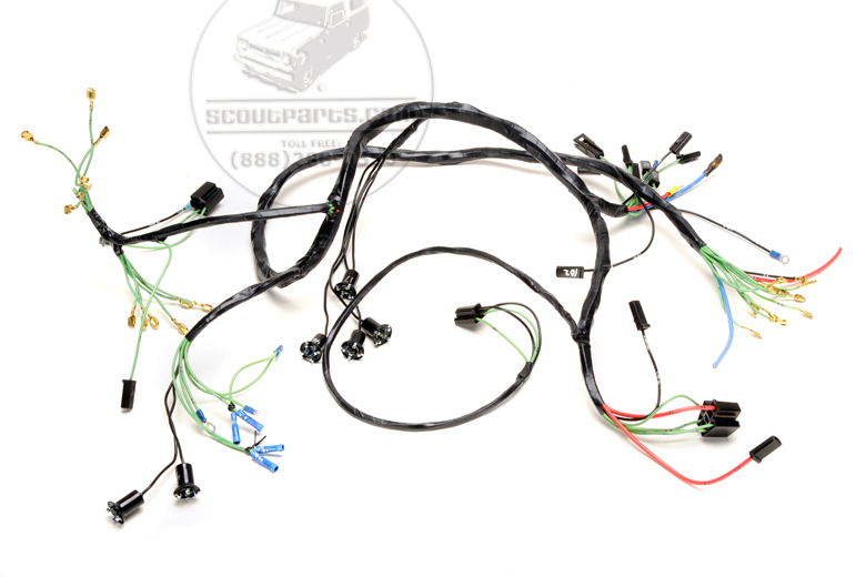 Main under dash wiring harness for scout 80 with alternator 1964-65