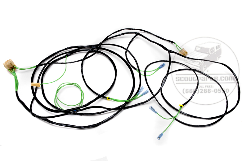 scout 80 rear wiring harness for with alternator 1964