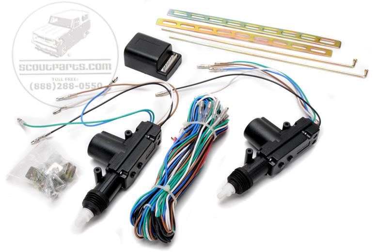 Electric Door Lock Kit - 2 Door Kit With Remotes
