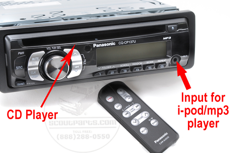 Radio - Panasonic 50 Watt - AM/FM MP3 CD Player