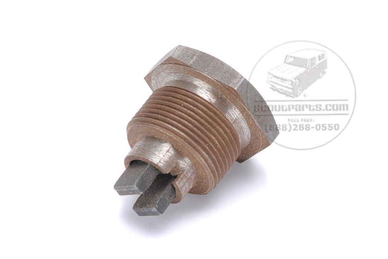 Oil pan plug, with magnet ,  one inch diameter fine thread.