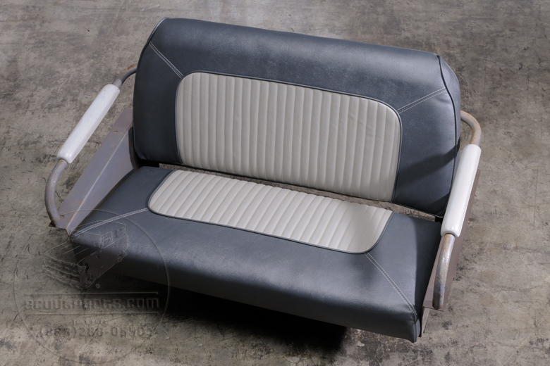 Re-upholstered rear back seat like new, custom