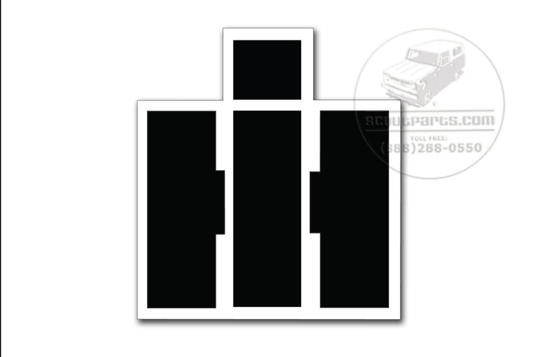 Scout II, Scout 80, Scout 800 Black And White Vinyl IH Logo Decal
