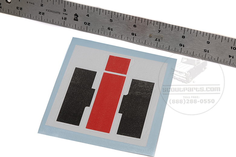 """Scout II, Scout 80, Scout 800 Decal  4 Inch """"IH"""""""