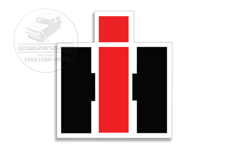 Scout II, Scout 80, Scout 800 Red White And Black Vinyl IH Decal