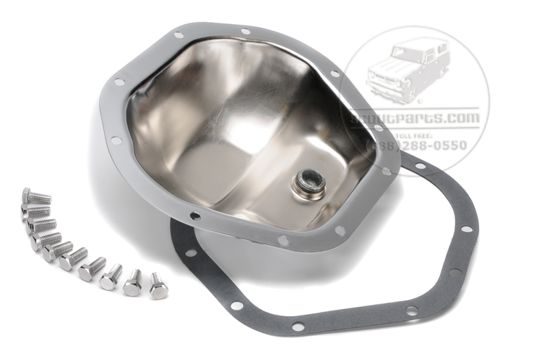 Scout II, Scout 80, Scout 800 Dana 44 Crome Differential Cover With Chrome Bolts And Gasket