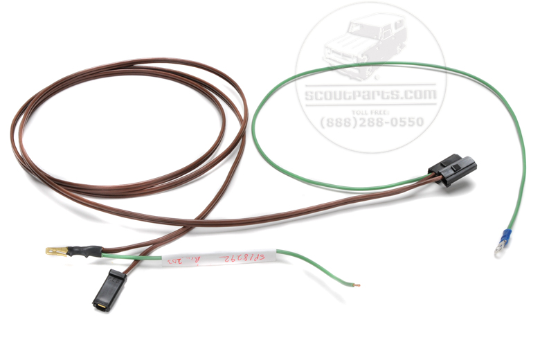 18292_236821 dome light wiring harness, early production 71 to 77 scout wiring harness at nearapp.co