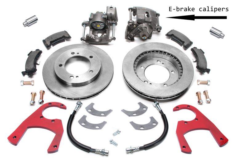 Scout 80 Disc Brake rear Conversion Kit with E-brake -   Dana 27 Axles