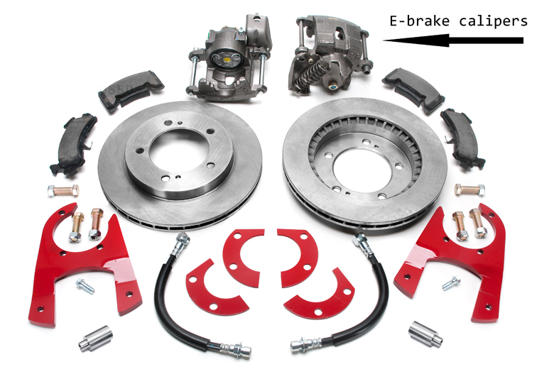 Disc Brake Conversion kit Rear-  Dana 44 tapered axle Rear Disc brake w/e-brake Kit