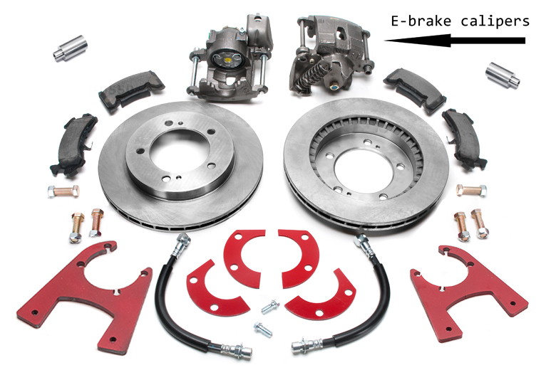 Scout 800 Disc Brake Conversion Kit Rear-  Dana 44 Tapered Axle Rear Disc Brake W/e-brake Kit