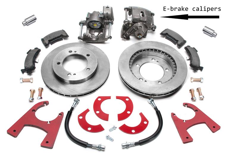 Scout 800 Disc Brake Conversion Kit Rear-  Dana 44 Tapered Axle Rear Disc Brake W/e-brake Kit