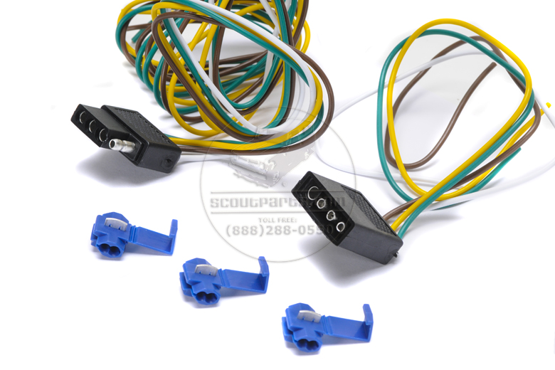 Scout II, Scout 80, Scout 800 Trailer wiring connector kit - 5 foot 4 pole