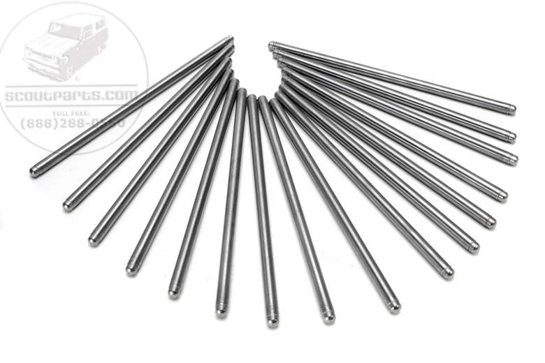 345 V8 Pushrods - Ball on Both Ends Type (Set of 16)