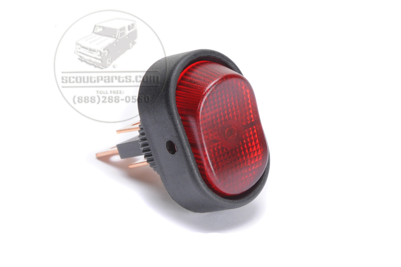 Red Light Toggle Switch - Rounded