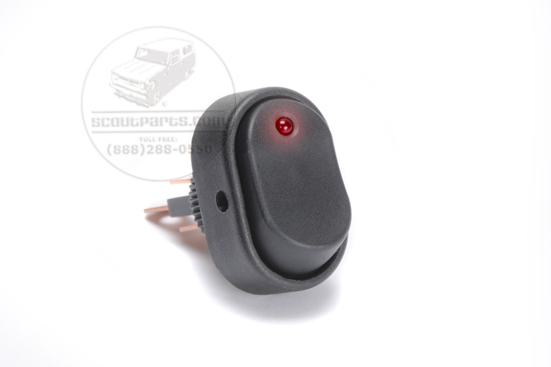 Red Light Dot Switch - Rounded