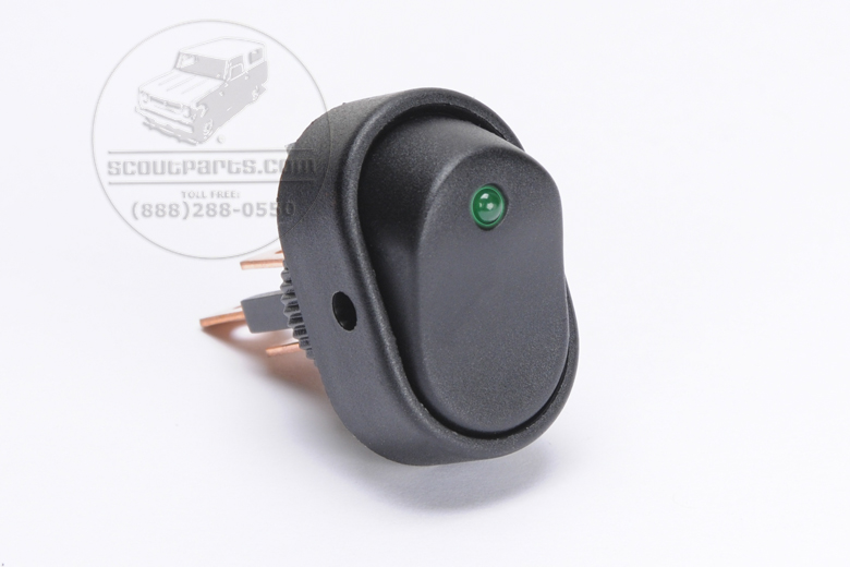 Green Light Dot Switch - Rounded