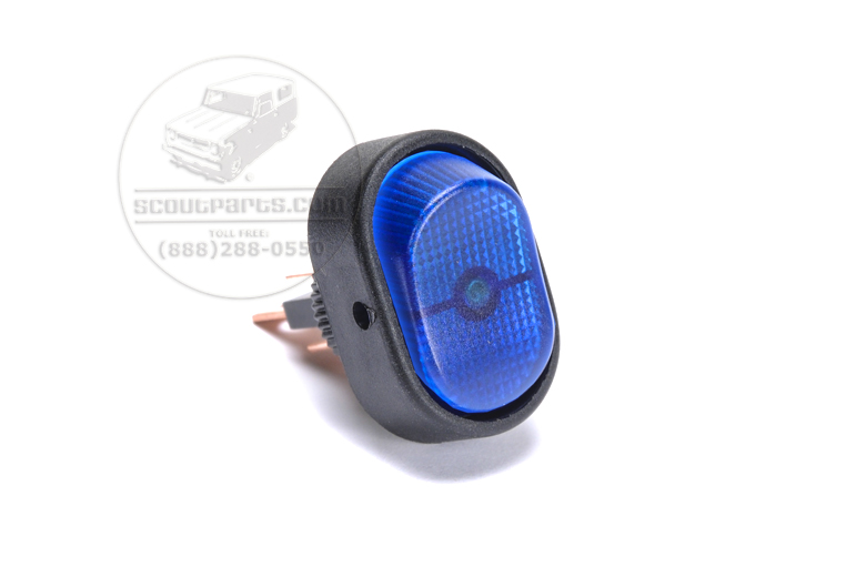 Blue Light  Switch - Rounded
