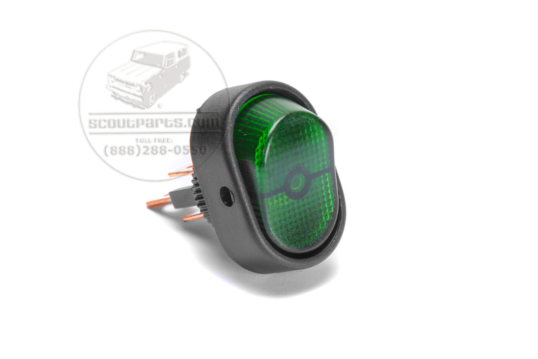 Green Light  Switch - Rounded
