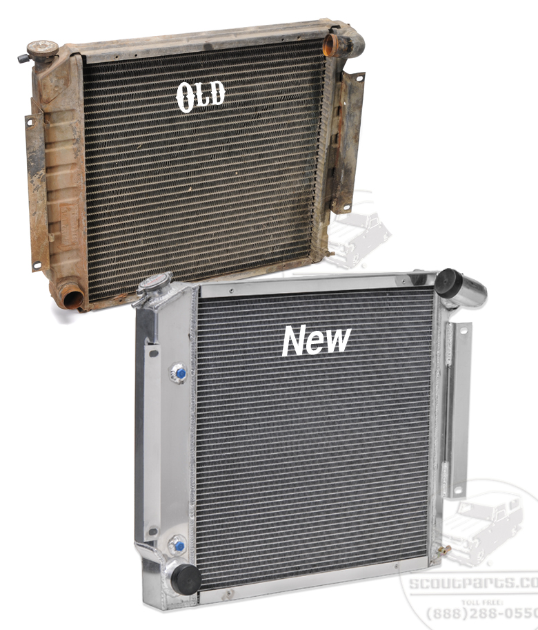 Aluminum Radiator - Gas V-8 and diesel